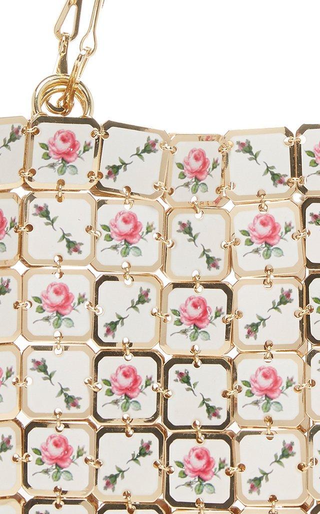 Square Nano Printed-Porcelain Chainmail Shoulder Bag