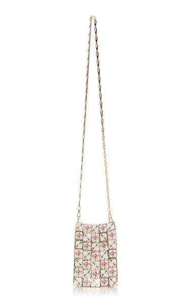 Square Mini Printed-Porcelain Chainmail Shoulder Bag