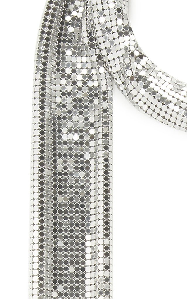 Fringe-Trimmed Chainmail Neck Tie