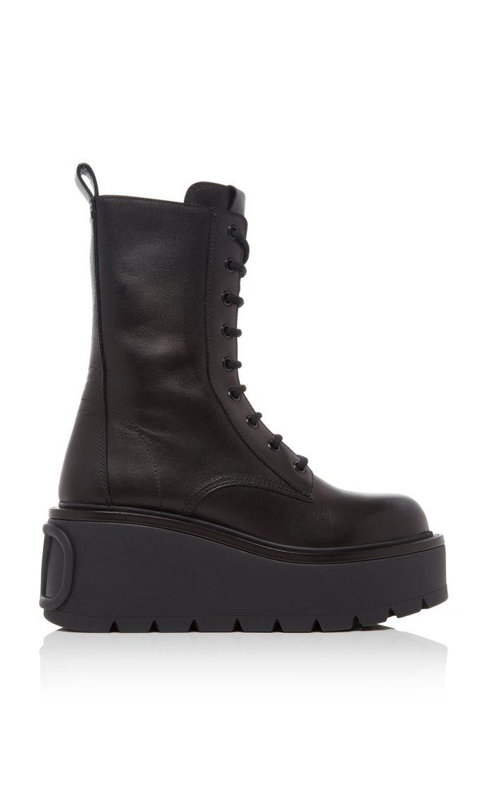 Valentino Garavani Uniqueform Leather Boots