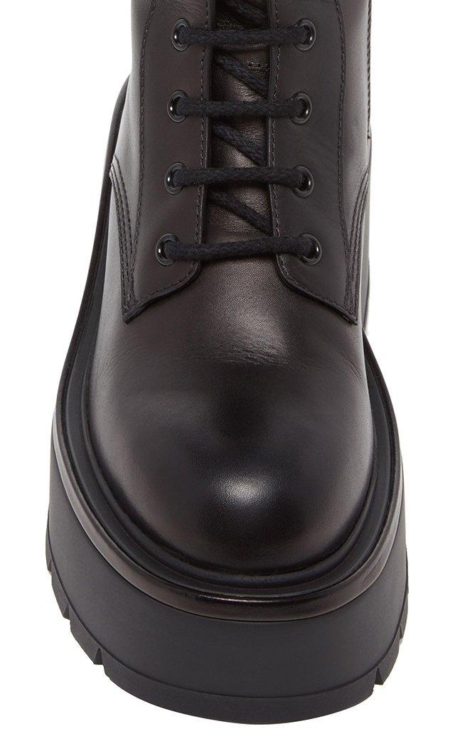 Garavani Leather Platform Combat Boots