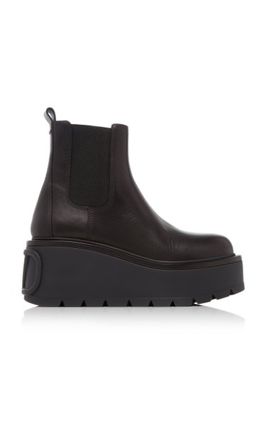 Garavani Beatle Platform Leather Boots