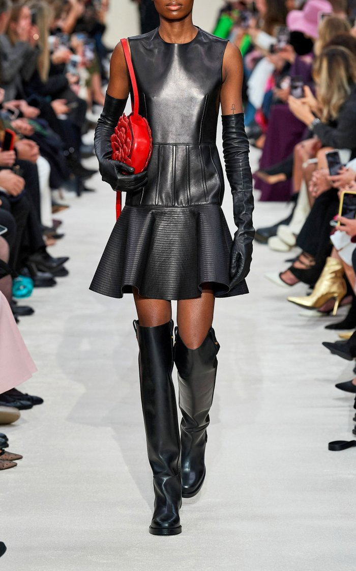 Valentino Garavani V-Troop Over-The-Knee Leather Boots
