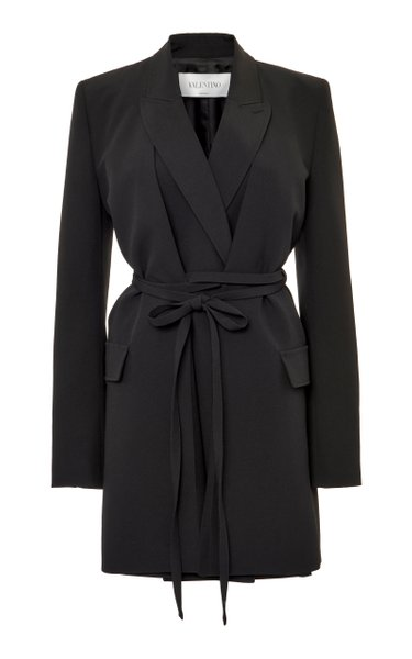 Belted Wool Blazer