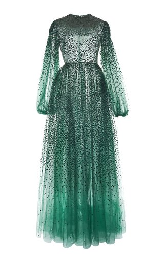 Sequin-Embroidered Tulle Gown