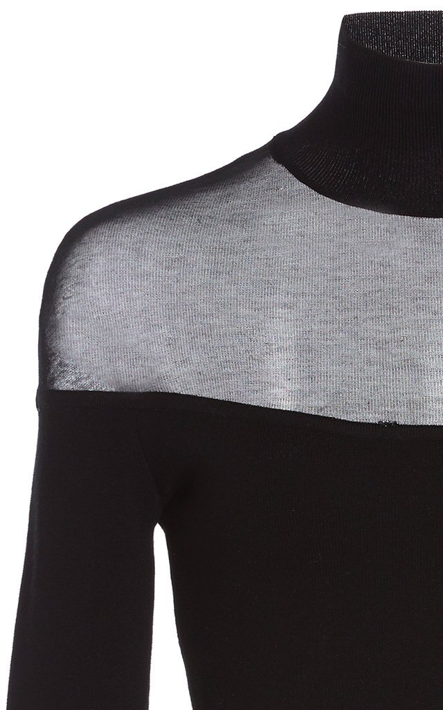 Sheer Cropped Knit Top