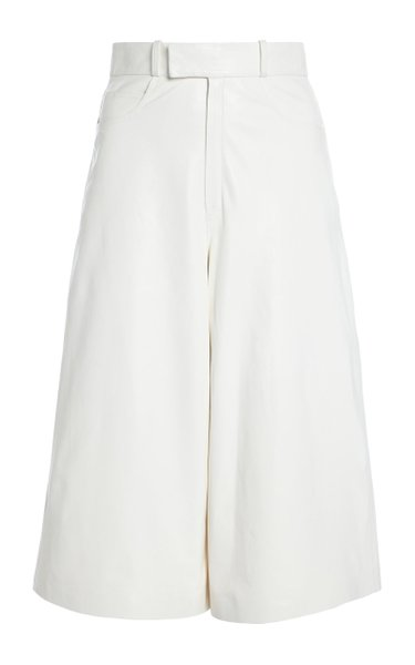 Leather Culotte Shorts