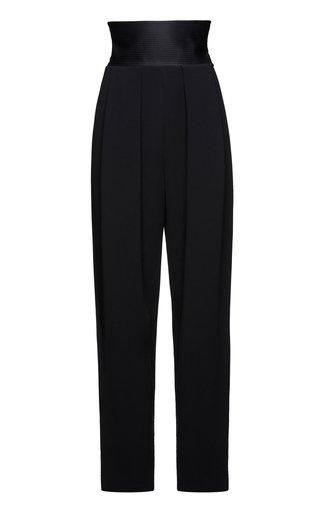 High-Rise Stretch-Wool Pants