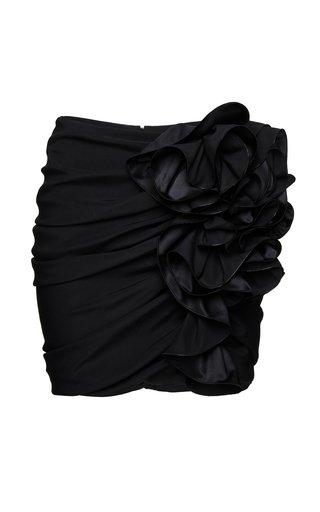 Ruffled Silk-Blend Mini Skirt