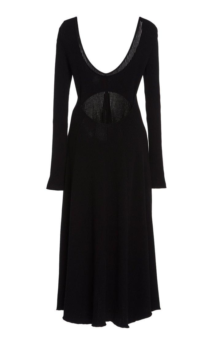 Open Back Midi Knit Dress
