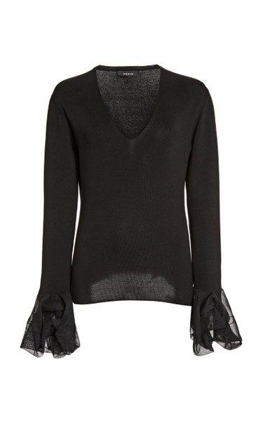 Silk-Blend Knit Top