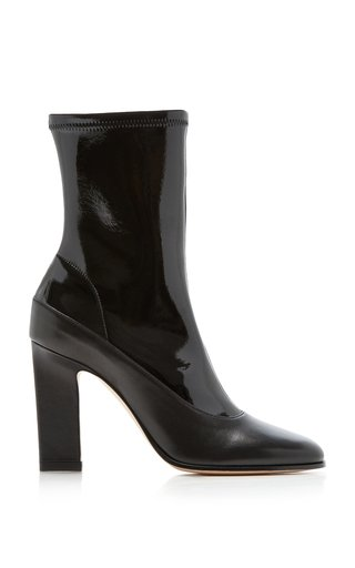 Lesly Multi-Tonal Leather Ankle Boots