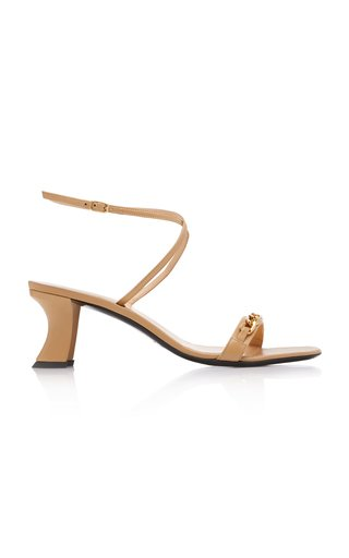 Nelly Chain-Detailed Leather Sandals
