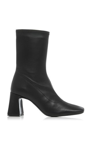 Philip Stretch Leather Ankle Boots