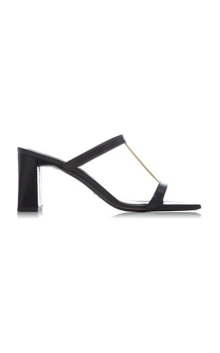 Chloe Chain-Detailed Leather Sandals