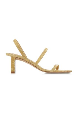 Liu Snake-Effect Leather Sandals