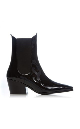 Max Patent Leather Ankle Boots