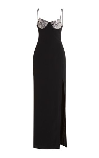 Crystal-Bra Cady Column Gown