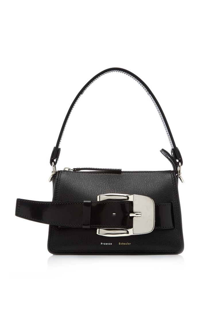 Small Buckle Zip Leather Bag