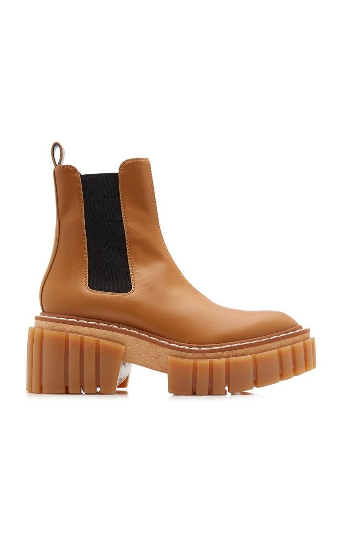 Emilie Vegan Leather Platform Chelsea Boots