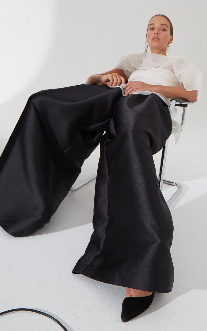 Sonn Draped Silk Organza Top
