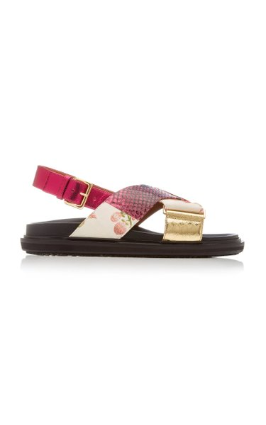 Fussbett Patchwork Leather Sandals