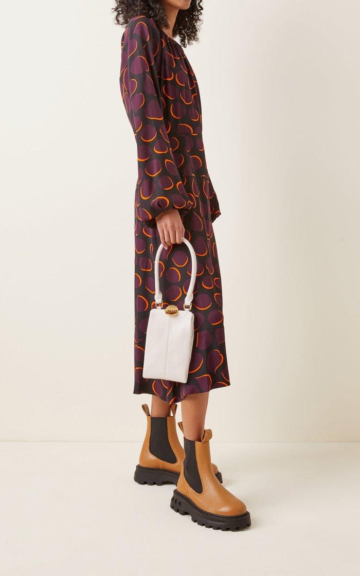 Queen Leather Crossbody Bag