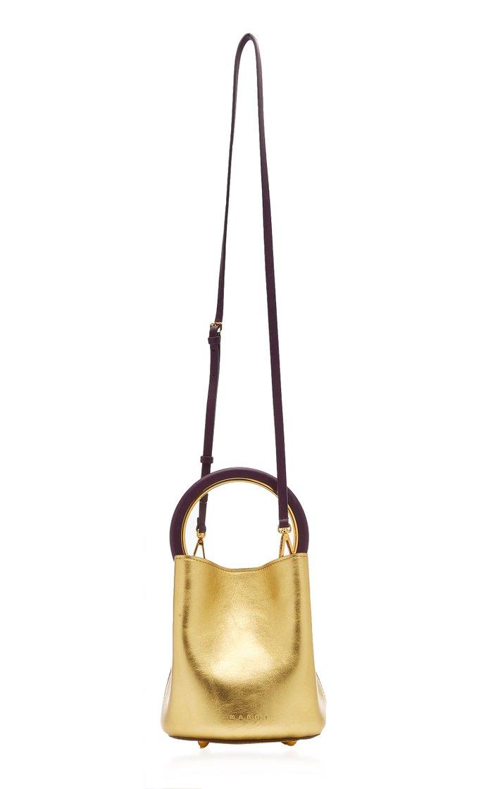 Pannier Small Metallic Leather Top Handle Bag