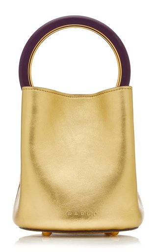 Pannier Small Metallic Leather Top Handle Bag
