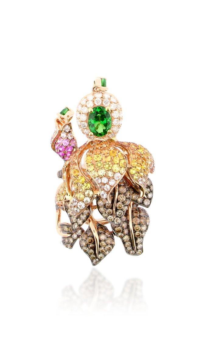 18K Rose Gold Multistone Ring