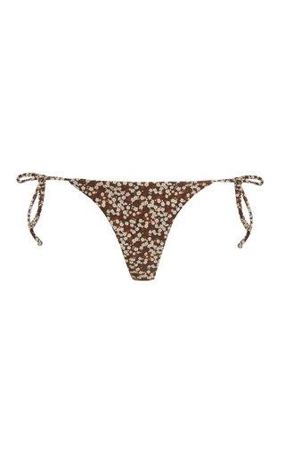 Printed String Bikini Bottoms