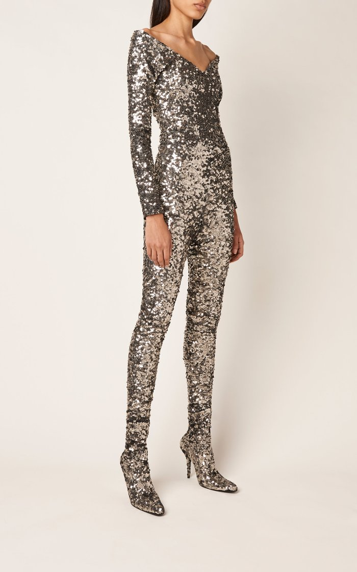 Sequined Jersey Leggings
