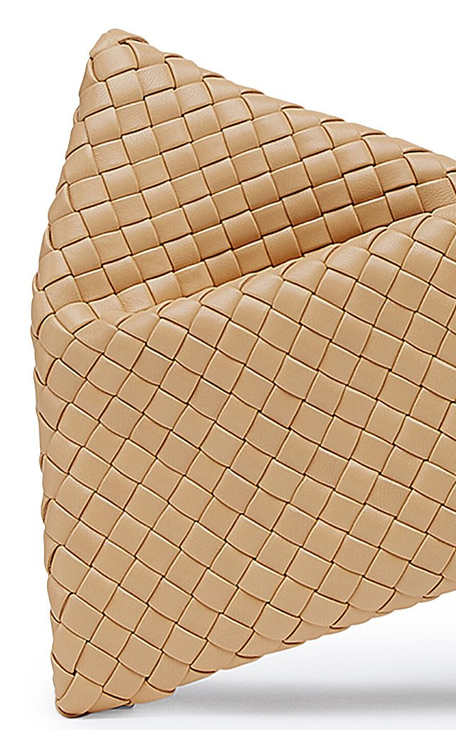 Twist Intrecciato Leather Clutch