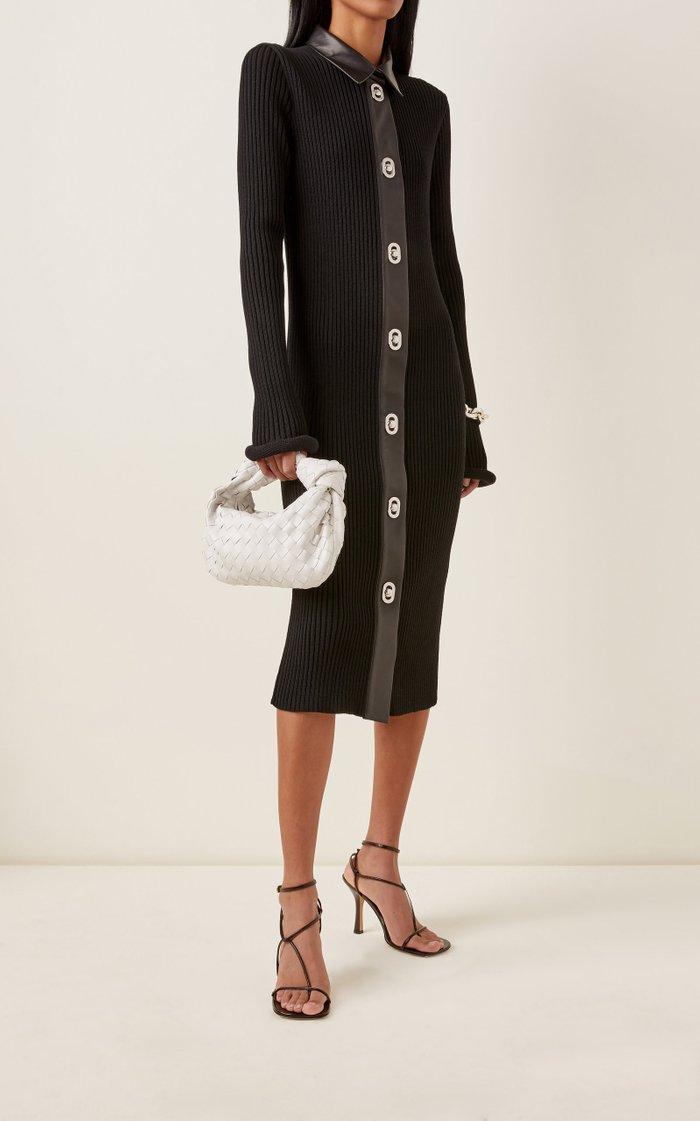 Mini Jodie Intrecciato Leather Top Handle Bag