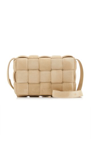 Padded Cassette Suede Leather Bag