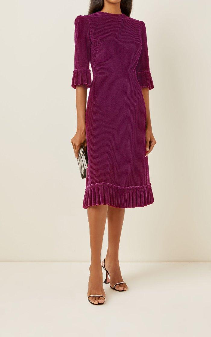 The Festival Cotton Corduroy Midi Dress