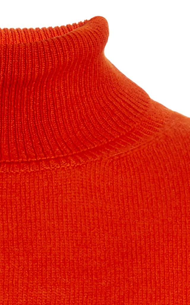 Tranquility Ribbed-Knit Turtleneck Top