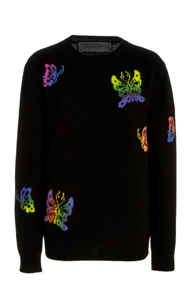 Paint Butterfly Universe Cashmere Sweater