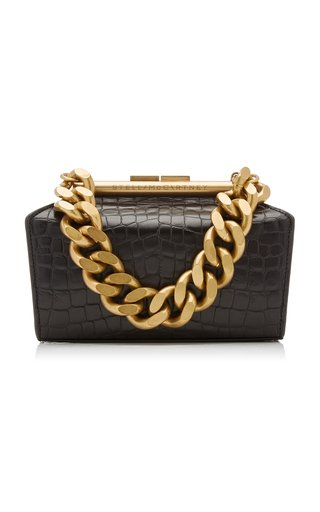 Small Structured Croc-Effect Vegan Leather Bag