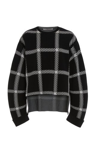 Oversized Clean Lumberjack Checked Knit Sweater