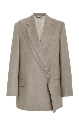 Asymmetric Wool Blazer
