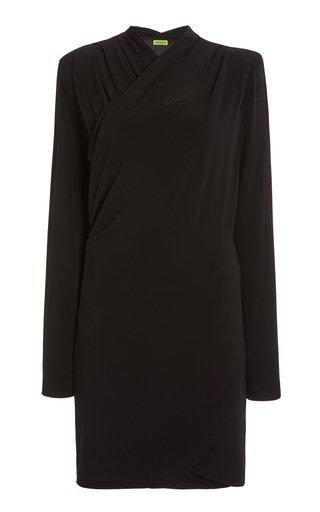 Tver Draped Crepe Mini Dress
