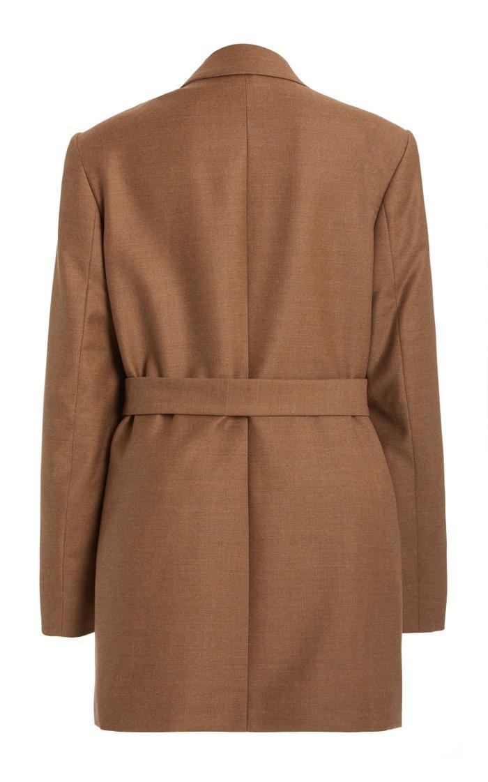 Mazat Layered Wool-Cashmere Blazer
