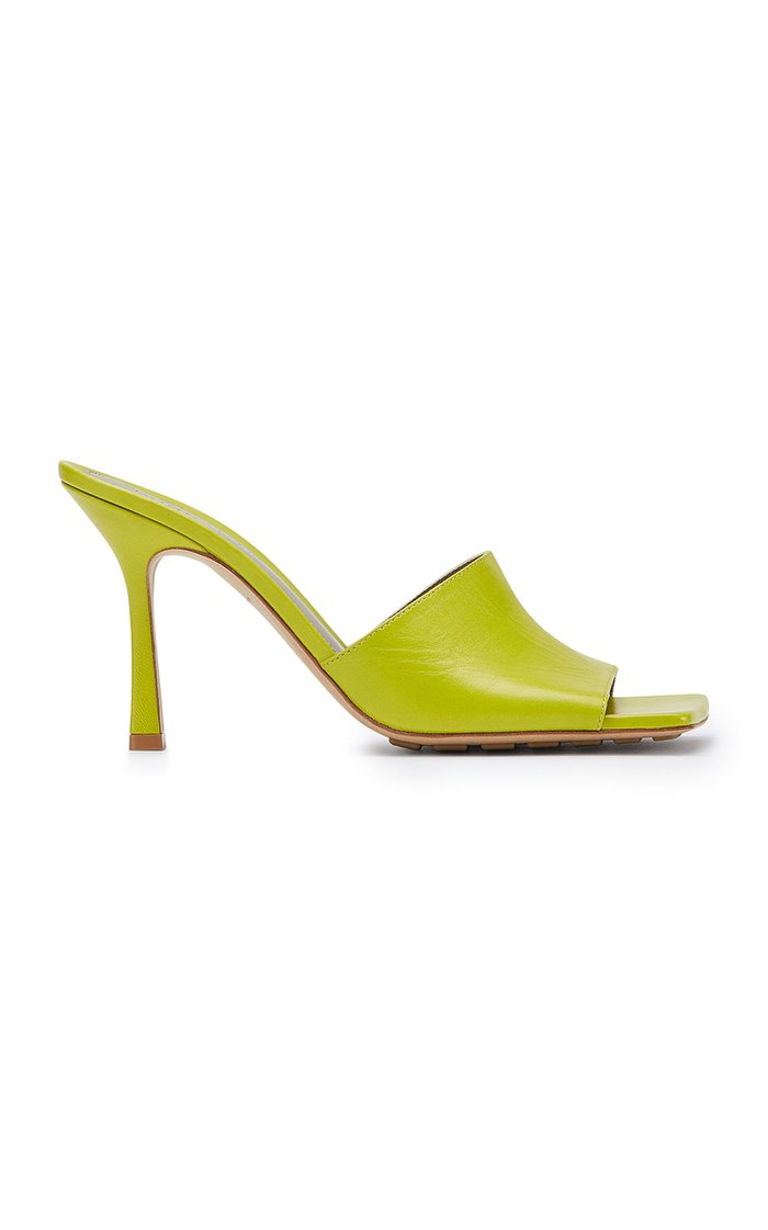 Stretch Leather Sandals