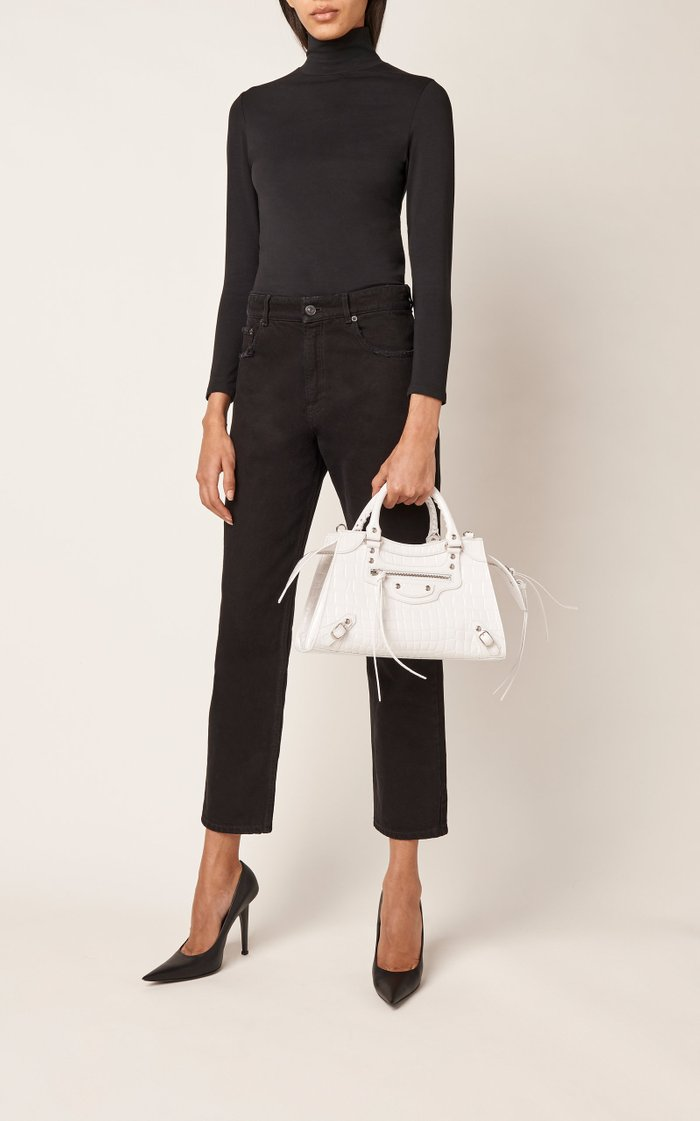 Neo Classic City Small Croc-Effect Leather Bag