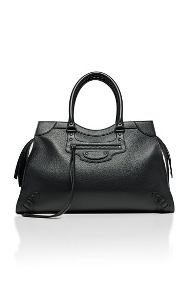 Neo Classic City Large Textured-Leather Bag