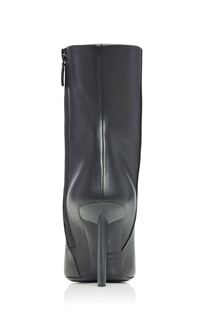 Knife Shark Leather Booties