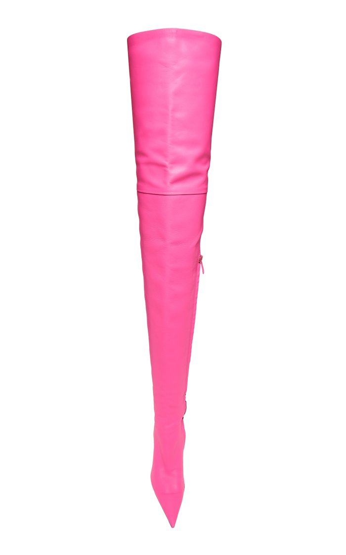 Knife Shark Over-The-Knee Leather Boots