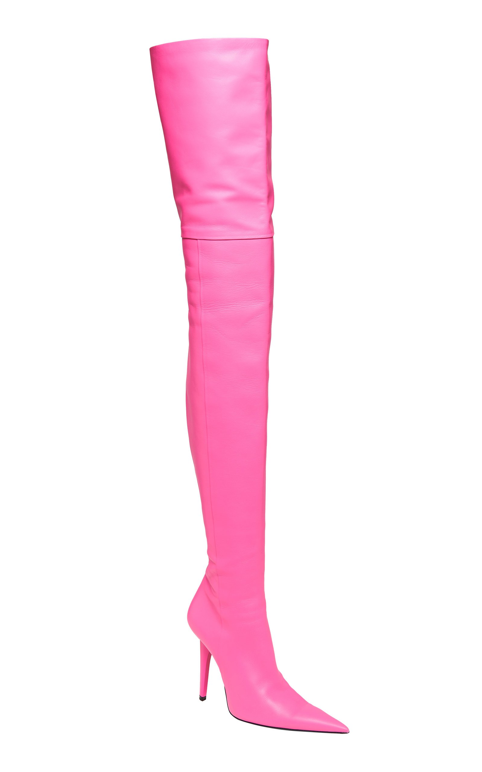 Shark Leather Over-The-Knee Boots By