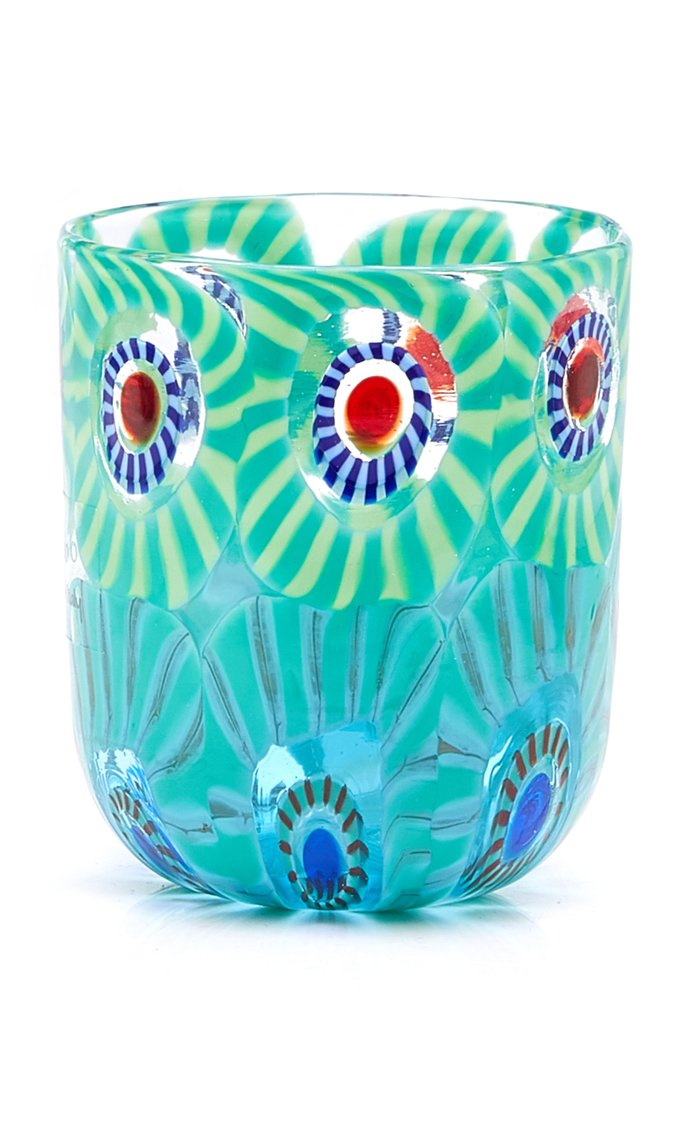 Set-Of-Four Murrine Glass Tumblers